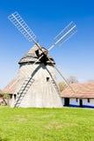 捷克共和国风车 库存图片