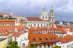捷克共和国,布拉格- 18世纪vrtba庭院(Vrtbovska za 免版税库存图片