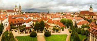 捷克共和国,布拉格- 18世纪vrtba庭院Vrtbovska za 免版税库存图片