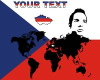 捷克共和国worldmap 皇族释放例证