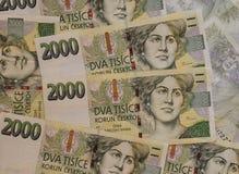 捷克加冠货币 免版税图库摄影