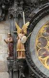 捷克古老天文学时钟的布拉格有许多的Fi 库存照片