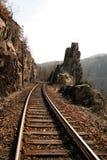 捷克和平的铁路 免版税图库摄影