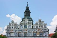 捷克大厅共和国stribro城镇 免版税库存照片