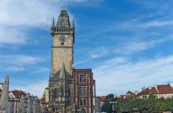 捷克大厅老布拉格共和国城镇 库存图片