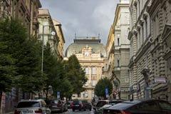 捷克小学大厦,布拉格 免版税图库摄影