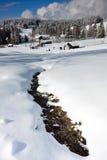 捷克山在冬天 免版税库存图片