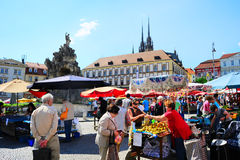 捷克市场 图库摄影