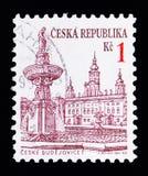 捷克布杰约维采,明确的问题-城市serie,大约1993年 免版税图库摄影