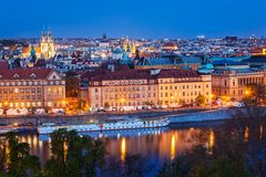 捷克平衡的布拉格共和国查阅 库存照片