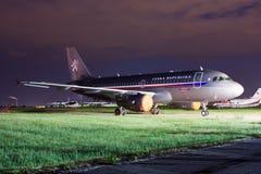 捷克政府的航空器空中客车A319-115 (CJ 免版税库存照片
