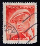 捷克斯洛伐克大约(1949)显示弗拉迪斯拉夫Vancura 免版税库存图片