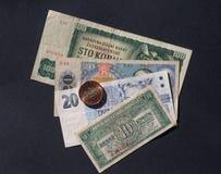 捷克斯洛伐克金钱 免版税库存照片
