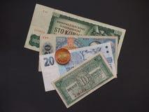 捷克斯洛伐克金钱 库存图片