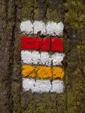 捷克旅游标志 免版税库存图片
