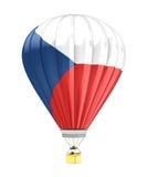 捷克旗子气球 库存照片