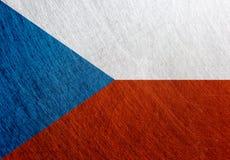 捷克旗子葡萄酒,国旗 免版税库存图片