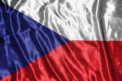 捷克标志 在背景的旗子 库存图片