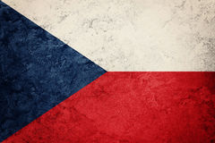 捷克标志grunge共和国 与难看的东西文本的捷克旗子 免版税库存照片