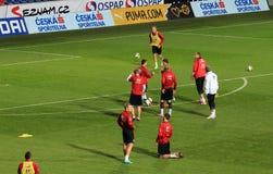捷克橄榄球队培训  图库摄影