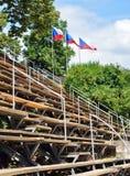 捷克的地点和旗子的观众席 库存照片
