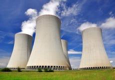 核电站Temelin 免版税库存照片