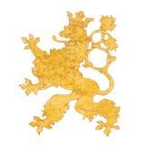 捷克的狮子标志被隔绝的背景的 免版税库存图片