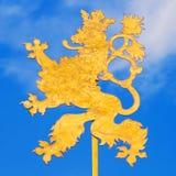 捷克的狮子标志 库存照片