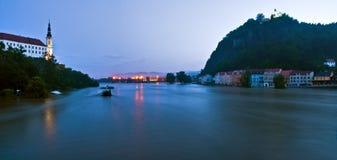捷克胀大的河 库存照片