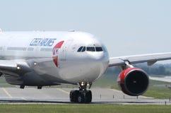 捷克航空公司空中客车A320 Ruzyne 图库摄影
