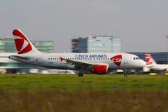 A320捷克航空公司 库存照片