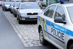 捷克警察 免版税库存照片