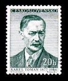 捷克诗人卡雷尔Toman 1877-1946,大约1957年 库存图片