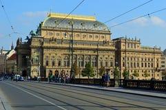 捷克语国家的戏院:Nà ¡ rodnà divadlo在布拉格 库存图片
