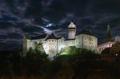 捷克语的城堡放入他的卡尔国王共和国是其中青年时期的loket 库存照片