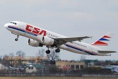 捷克语的航空公司 库存照片