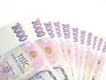 捷克语的钞票 免版税图库摄影