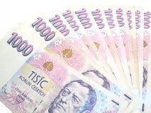 捷克语的钞票 免版税库存图片