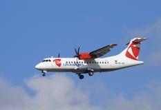 捷克语航空器的航空公司 免版税图库摄影
