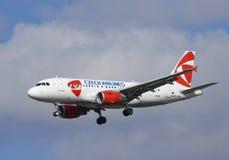 捷克语航空器的航空公司 免版税库存图片