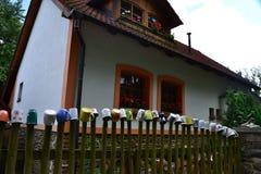 捷克语,罗马式建筑学,旅游业,城堡Bouzov,奥洛穆茨,美丽的景色,古物收藏家,高尚的家庭, 免版税库存图片