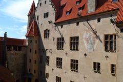 捷克语,罗马式建筑学,旅游业,城堡Bouzov,奥洛穆茨,美丽的景色,古物收藏家,高尚的家庭, 免版税图库摄影