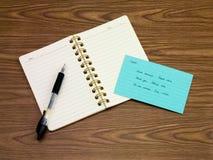 捷克语;学会在笔记本的新的语言文字词 库存照片