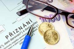 捷克财产税。 库存图片