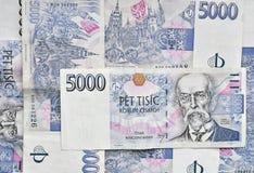 捷克金钱背景 免版税库存照片