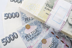 捷克钞票冠 免版税图库摄影