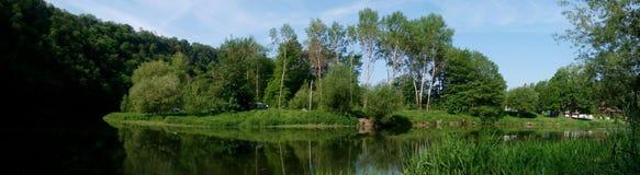 捷克风景的全景照片 库存图片