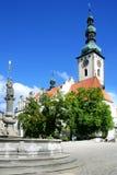 捷克,塔博尔- 2012年10月22日:新生教会  免版税库存照片