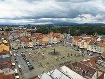 捷克,捷克布杰约维采, 2016年7月15日:在mai的看法 免版税库存照片