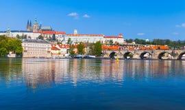 捷克,老布拉格全景  库存图片